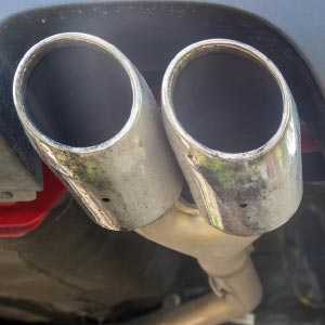 Close up of exhausts